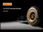 Pirelli – výsledky prvního pololetí